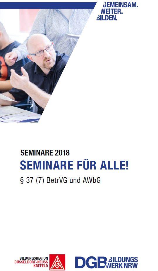 blaues heft AWbG Seminare für alle