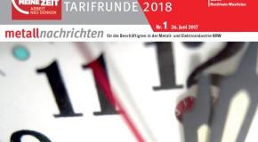 Metallnachrichten: Tarifrunde Metall-Elektro 2018