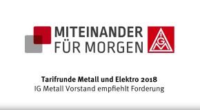 IG Metall-Vorstand empfiehlt Forderung für Metall-Tarifrunde – 6 Prozent plus individueller Anspruch auf kürzere Arbeitszeit