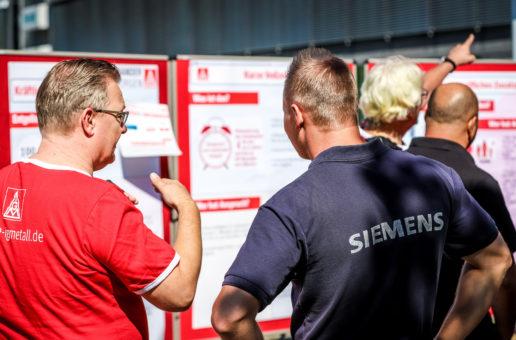 IG Metall auf Infotour bei Siemens Mobility