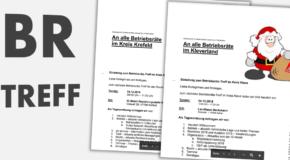 Einladung zum Betriebsräte-Treff